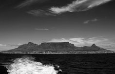 devils peak, table, lions head...on the way to robben island