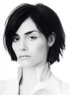 Love this chin length textured layered bob