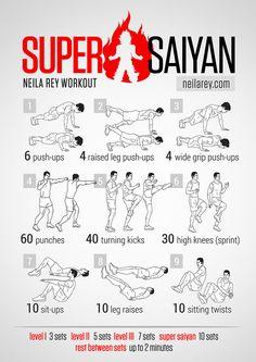 geeky_workout_Super Saiyan Dragon Ball Z Dragonball