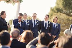 Groom sees his bride for the first time | Pretty in Pink Los Verdes Golf Course Wedding from Figlewicz Photography on heartlovealways.com