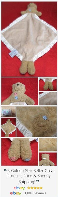 My Banky Billy bear lovey security blanket tan plush lovie