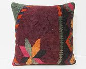 fall kilim pillow 20x20 couch pillow craft large outdoor pillow rustic oversize throw pillow knit large sofa pillow extra large pillow 26157