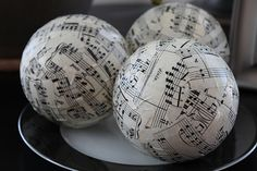 Cover styrofoam balls with paper and...voila...beautiful decoration...