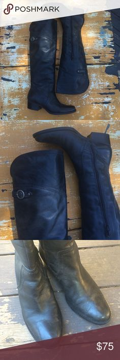"Matisse leather Sagebrush knee high riding boots Nearly perfect conditon, barely worn! Softest leather. Shaft measures 16"" heel 1 3/4"" high. Matisse Shoes Over the Knee Boots"