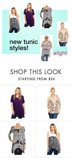 Plus Size Tunic Styles by alight-com on Polyvore #alight #plussize #plussizeclothing #plussizefashion #plussizetunics #plussizetops #trend #trendy #tunic #tiedye #lace