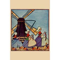 Buyenlarge 'Dutch Girls Knitting' by Needlecraft Magazine Graphic Art Size: