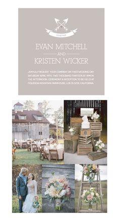 I like the crates.  Rustic Wedding ideas - love it!