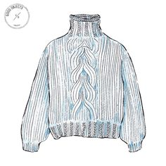 Good objects - I love Mr Mittens cropped cable knit @ilovemrmittens #goodobjects #illustration