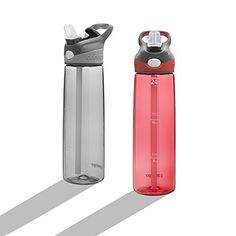 Contigo 24-Ounce Addison Water Bottle 24 Ounce Smoke / Watermelon Gift Set 2pk