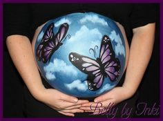 Butterfly bellypaint