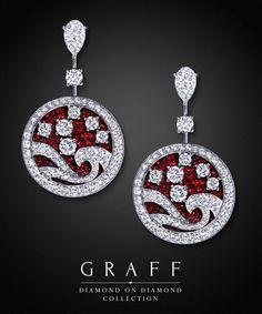 Graff Diamonds: Diamond on Diamond Wave Earrings