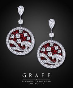 Graff Diamonds: Diamond on Diamond Wave Earrings