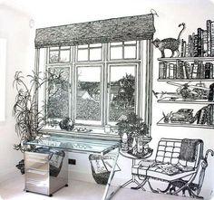 Charlotte Mann via Fauxology, black pen on white wall.