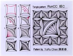 Do It And How – Page 7 – You can do it – Here's how! Tangle Doodle, Tangle Art, Doodle Art, Zen Doodle Patterns, Zentangle Patterns, Zentangle Drawings, Doodles Zentangles, Drawing Letters, Doodle Inspiration