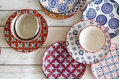 Pols Potten hippy plates and mosaic bowls #tableware #diningset #dining