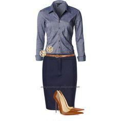 Chambray & Navy | Polyvore - uniqueimage | Bloglovin'