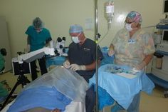 Eye operation project with MMI. More then 200 patients will operated in two weeks time.