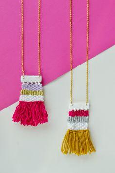 DIY Woven Necklace