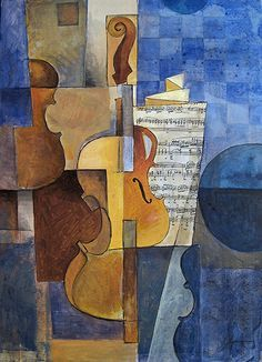 musical cubist painting - Google Search