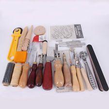37PCS Profi Leder Handwerk Werkzeuge Stanze Nähte Stempel Arbeiten Werkzeug-Set Flatware, Kitchen, Tools, Die Cutting, Stamps, Leather, Cuisine, Shun Cutlery, Utensils