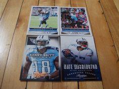NATE WASHINGTON KENNY BRITT 2013 Panini Score Absolute Tennessee Titans Lot (4)