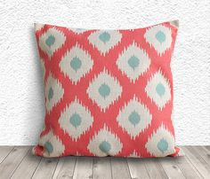 Ikat+Pillow+Cover+Pillow+Cover+Coral+Pillow+Cover+by+5CHomeDecor,+$14.99