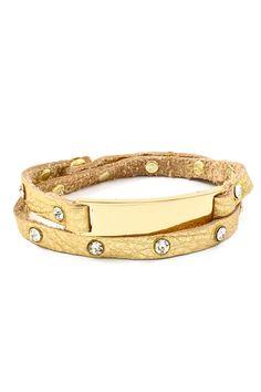 Gold on Gold Blake Bracelet on Emma Stine Limited