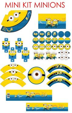 imprimibles minions gratis - Buscar con Google: Minion Theme, Minion Birthday, Minion Party, Boy First Birthday, Candy Bar Minions, Trunk Or Treat, Holidays And Events, Birthday Party Themes, Party Time