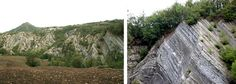 Angled Outcrops of Foreste Casentinesi in Tuscany.