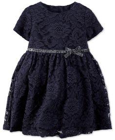 Carter's Baby Girls' Blue Lace Dress - Dresses - Kids & Baby - Macy's