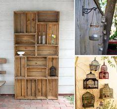 Garden deco and Garden furniture DIY