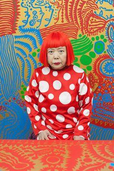Dotty artist... Yayoi Kusama