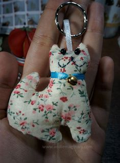 Found a bunch of different craft kits while at a local bookstore. I bought this DIY Cat Keychain craft kit to try my hand at a little sewing. Cat Keychain, Craft Kits, Textiles, Christmas Ornaments, Sewing, Holiday Decor, Cats, Diy, Stuff To Buy