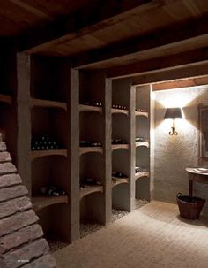 beautiful space to store wine
