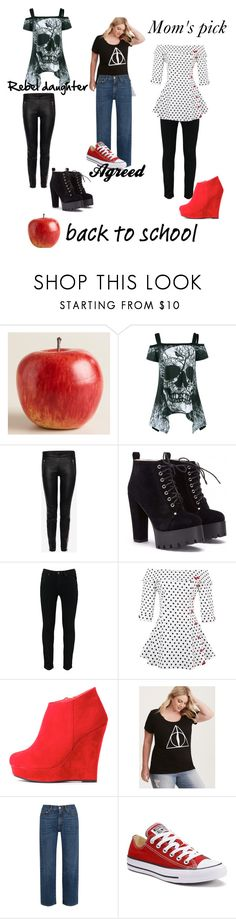 """""""back to school"""" by tluebke ❤ liked on Polyvore featuring Cost Plus World Market, Alexander McQueen, Torrid, AlexaChung and Converse"""