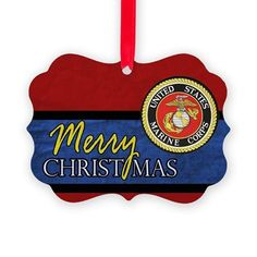 Marine Corps Christmas ornaments to honor the Marines in your life. I have three sons in the USMC and you better believe at Xmas I put another Marine decoration on the tree.