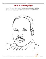 Martin Luther King Day Activities FREE Jr Coloring Page For