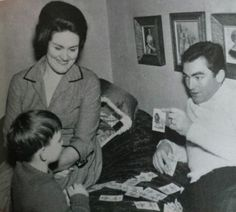 Joan Sutherland with husband, Richard Bonynge and son, Adam Bonynge c. 1960