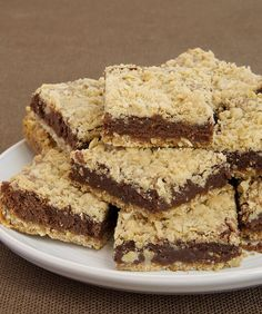 Oatmeal Brownie Bars are a delicious mashup of oat bars and brownies. It's a magical combination!