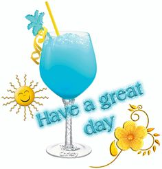 Great Day-Blue Graphic