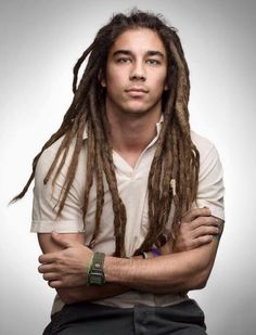 """Dreadlocks also known as locs or dreads are a signature hairstyle of the black culture. They are formed by mattingRead More Dreadlock hairstyles for men"""" Dreads Styles, Mens Dreadlock Styles, Dreadlock Hairstyles For Men, Curly Hair Styles, Natural Hair Styles, Men Hairstyles, Natural Beauty, Mens Dreads, Dreadlocks"""