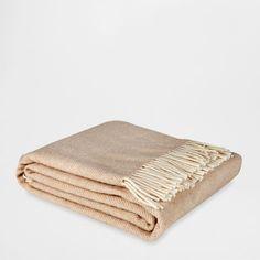 Fringed herringbone blanket, Zara Home ($50)