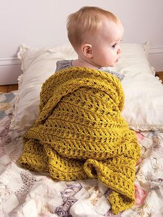 Ravelry: knitting pattern for Ivy blanket by Emily Nora O'Neil