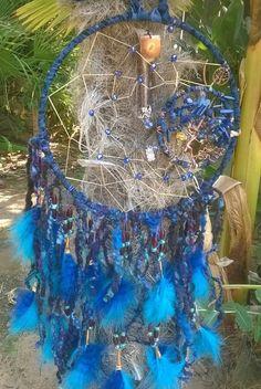 Blue Tree Dreamcatcher Lapis Lazuli Birthstone by DreamCatcherMan