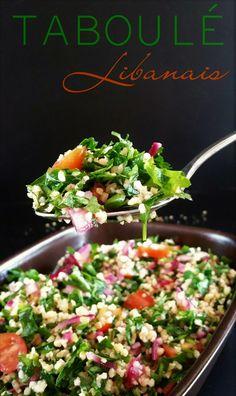 Chers tous, Suite et fin de notre semaine à thème sur la cuisine Libanaise avec un grand classique, le taboulé Libanais ! Contrairement à son cousin à base de semoule que nous connaissons mieux, ce…