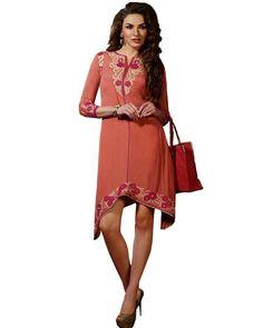 Flaunt your attitude with stylish #Kurtis. Find fresh range of designer Kurtis on Ethnic Station. Shop no @ http://www.ethnicstation.com/women/kurtis/pink-embroidered-kurti-MJ1724
