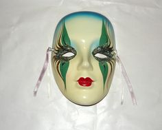 HANDMADE MADIGRAS CERAMIC WALL MASK~~Isn't She Awesome~~