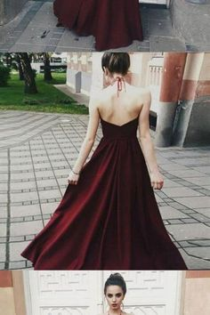 Backless Prom Dresses Dark Red Prom Dress Illusion Bodice Halter Long Party Gowns A Line Evening Prom Dress Custom Made Prom Dresses Dark Red, Backless Prom Dresses, Lace Evening Dresses, Sexy Dresses, Strapless Dress Formal, Long Party Gowns, Party Dresses, Wedding Dresses, Formal Dress Shops