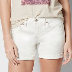 Petite SONOMA Goods for Life™ Jean Boyfriend Shorts, Women's, Size: 12 Petite, White