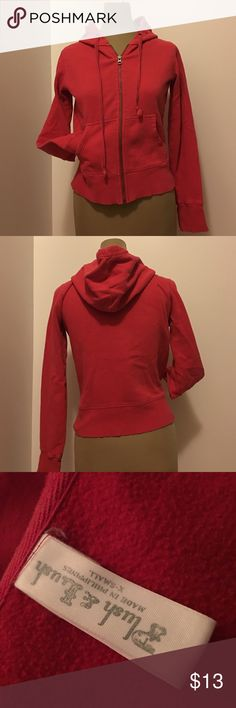 🍂Red zip up hoodie 🍂Red zip up hoodie. Size XS. Excellent condition!!!!! 80%cotton 20% polyester Plush & Lush Tops Sweatshirts & Hoodies